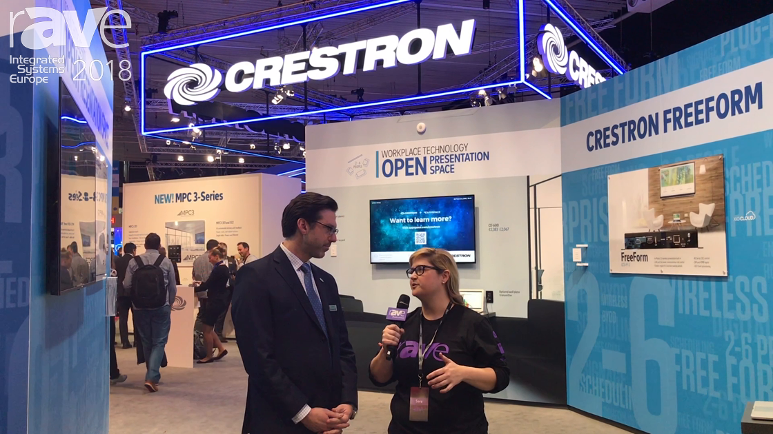 ISE 2018: Jeff Singer from Crestron Gives Sara Abrons a Booth Tour