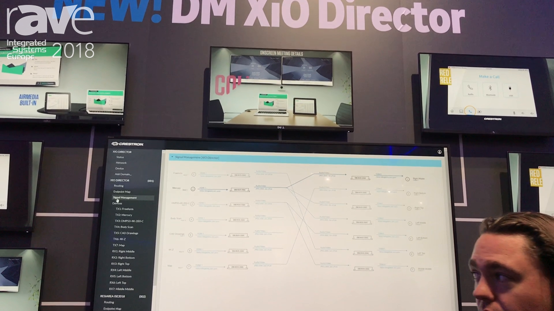 ISE 2018: Crestron Features Its DM XiO Director Network Management Appliance