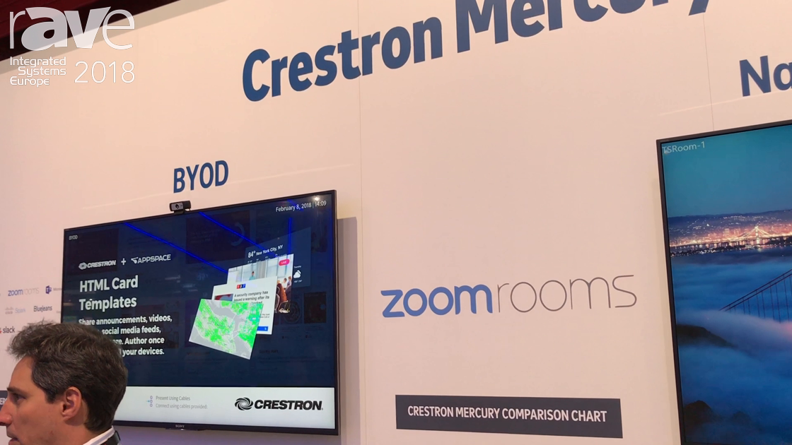 ISE 2018: Crestron Shows Off Crestron Mercury Collaboration Device for Meeting Rooms