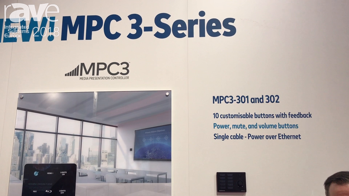 ISE 2018: Crestron Shows Off Its MPC 3-Series of Clear, Glossy, Touch Panels