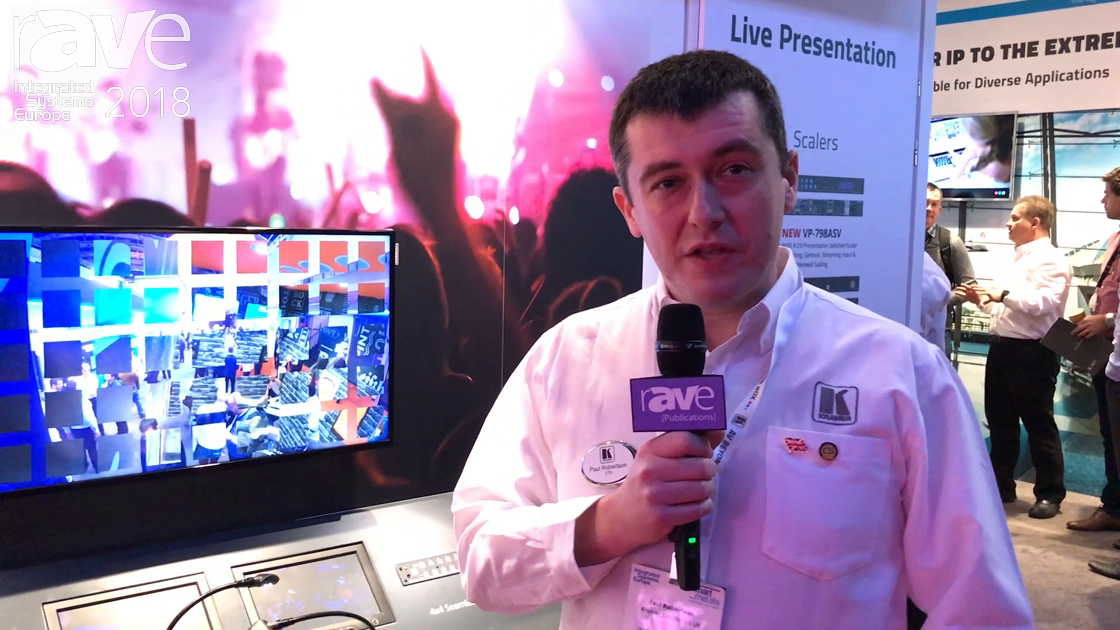 ISE 2018: Kramer Features the VP-772 ProScale Presentation Matrix Switcher-Scaler