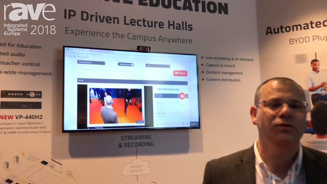 ISE 2018: Kramer Talks About IP Driven Lecture Halls in Education Applications