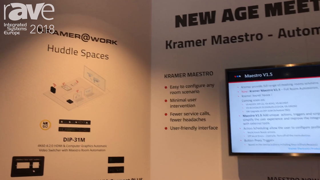 ISE 2018: Kramer's Secret Sauce Is the Kramer Maestro Room Automation System