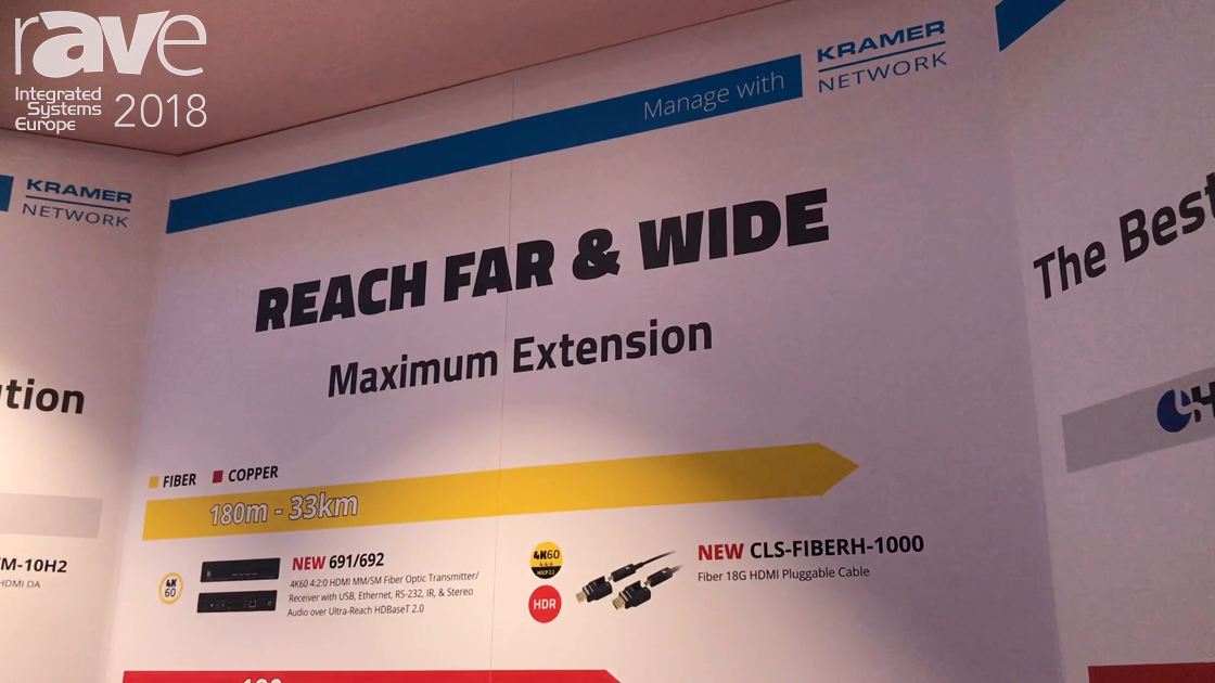 ISE 2018: Kramer Talks Switchers, Introduces VS-1616DN-EM Multi-Format Modular Matrix Switcher