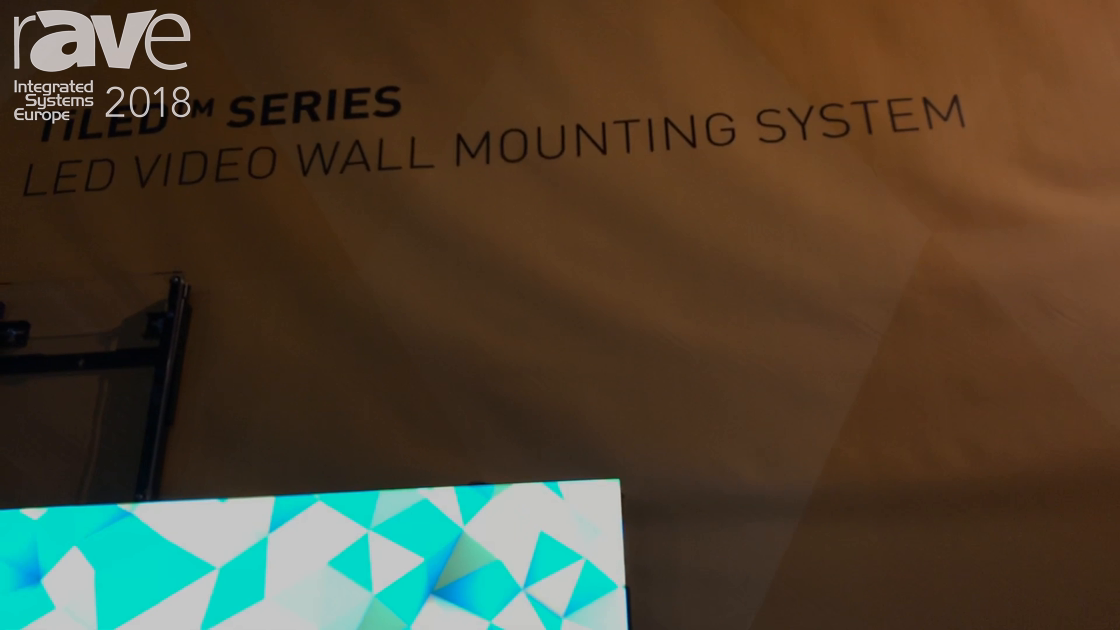 ISE 2018: Milestone's Chief Intros the Low-Profile TiLED Series Video Wall Mounting System