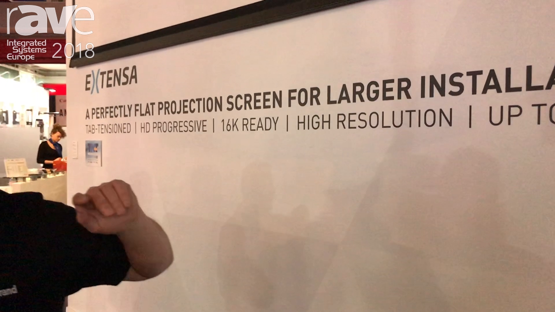 ISE 2018: Milestone's Projecta Shows Off the Extensa Large Install Projection Screen