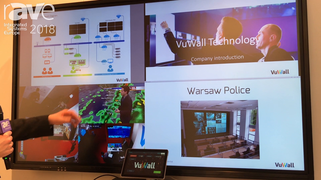 ISE 2018: VuWall Demos Its Collaborative CoScape Wireless Presentation System