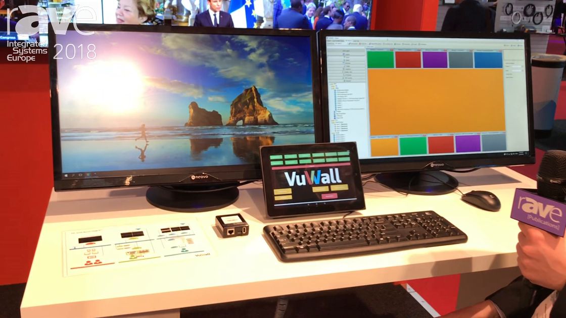 ISE 2018: VuWall Shows Off Its VuStation KVM Personal Solution for Video Walls