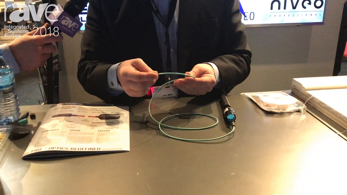 ISE 2018: Cleerline Shows Off Its New CleerFiber Fiber Optic Cable in a Transparent Jacket