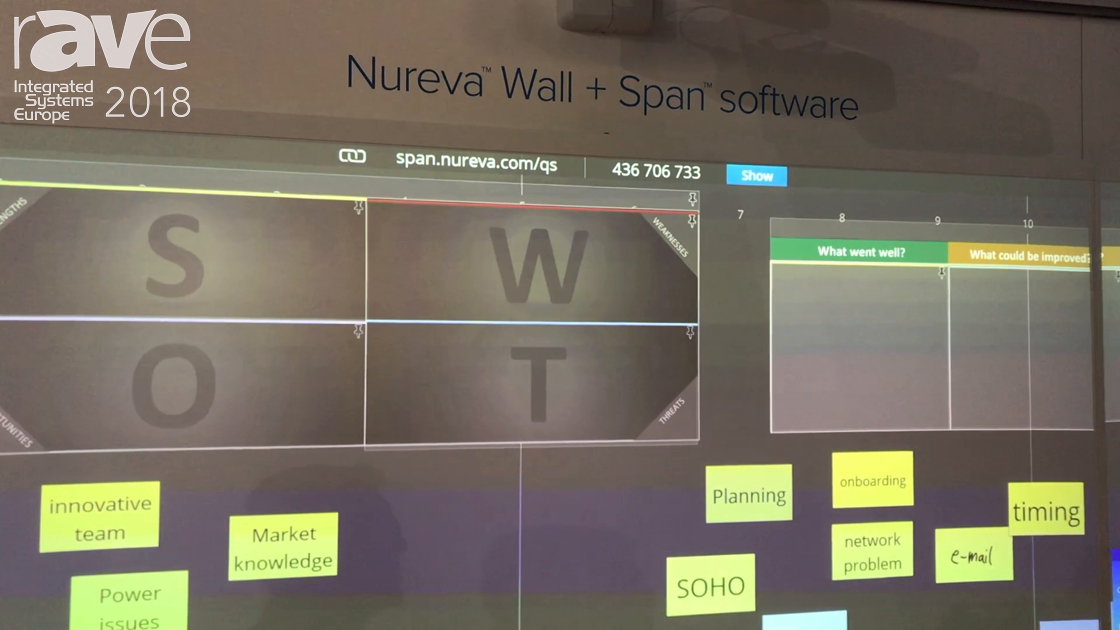 ISE 2018: Nureva Demos Its New Nureva Wall Touch Solution