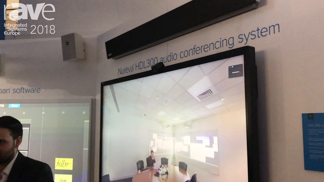 ISE 2018: Nureva Features Its HDL300 Audio Conferencing System With Microphone Mist