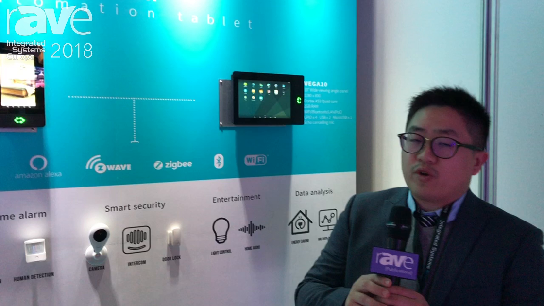 ISE 2018: Glory Star Group Demos VEGA7 Android Tablet Device For Smart Home Automation