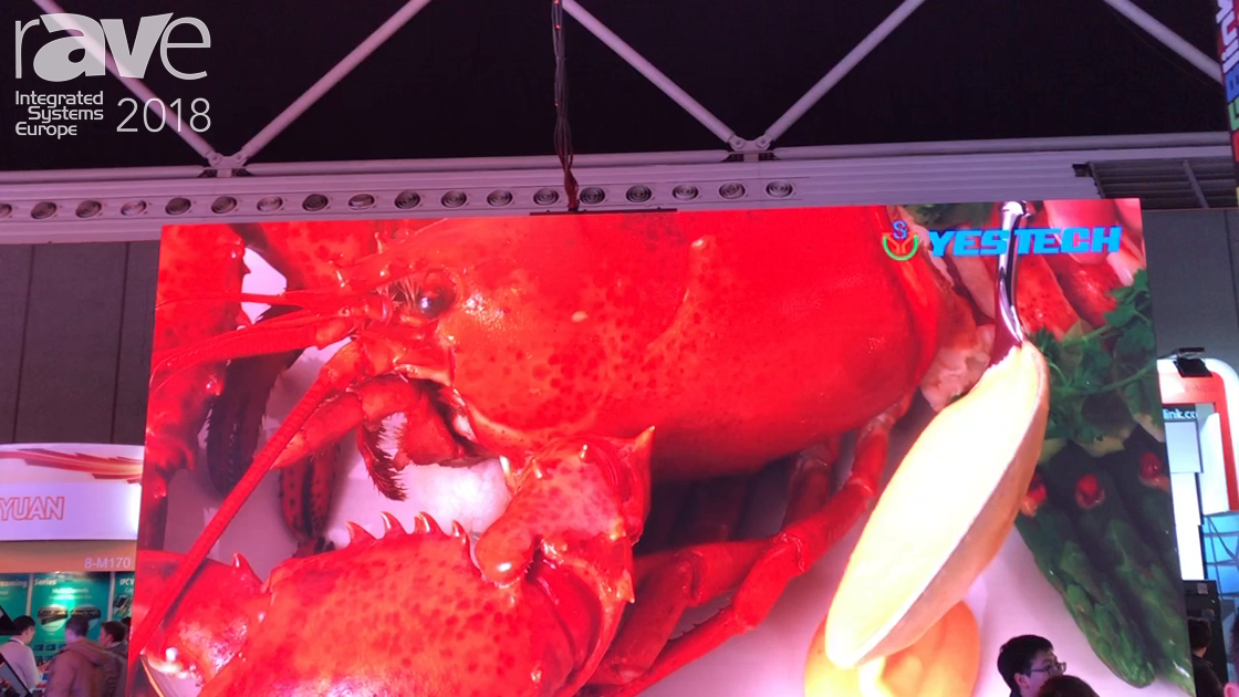 ISE 2018: Hunan YESTECH Optoelectronic Demos 2.84mm and 4.8mm LED Display, Plus LED Dance Floor