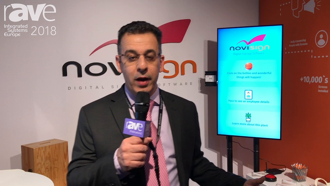 ISE 2018: NoviSign Exhibits Digital Signage Software for IoT and Interactive Applications
