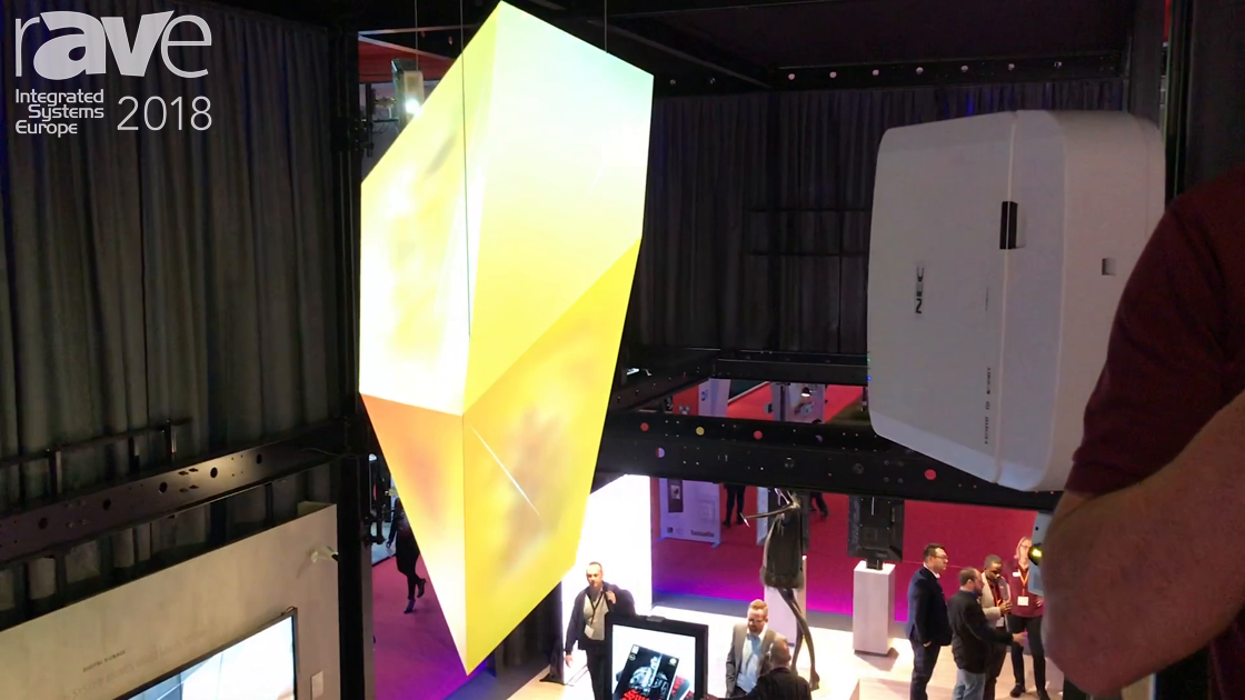 ISE 2018: NEC Display Demos Its PA Series Laser Projectors in an Art Installation Application