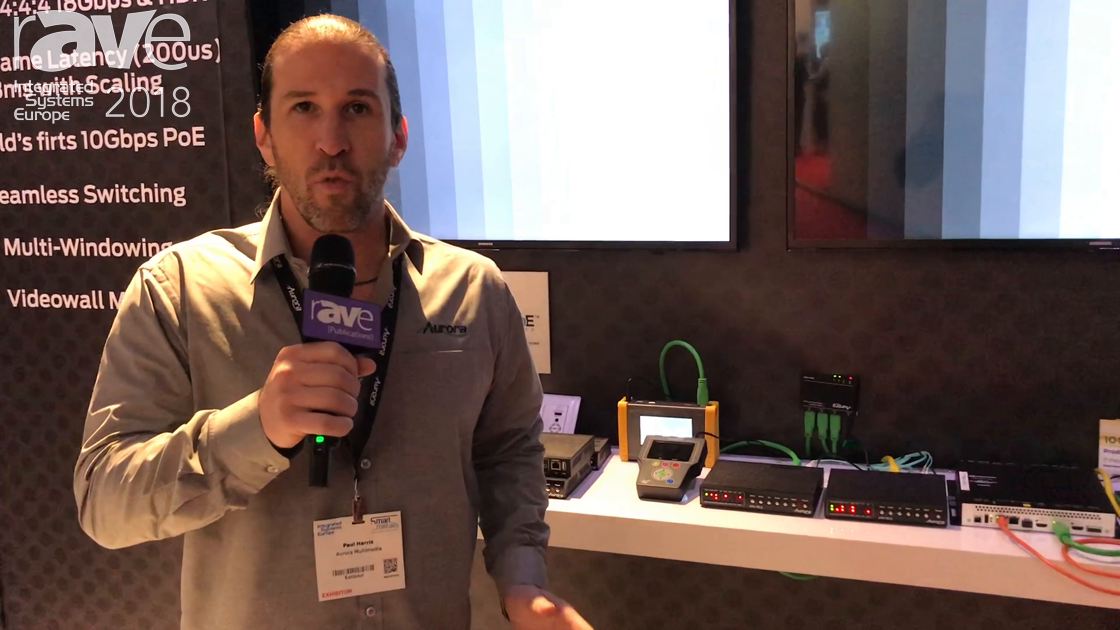 ISE 2018: Aurora Multimedia Features Its IPX Series of Transceivers With SDVoE