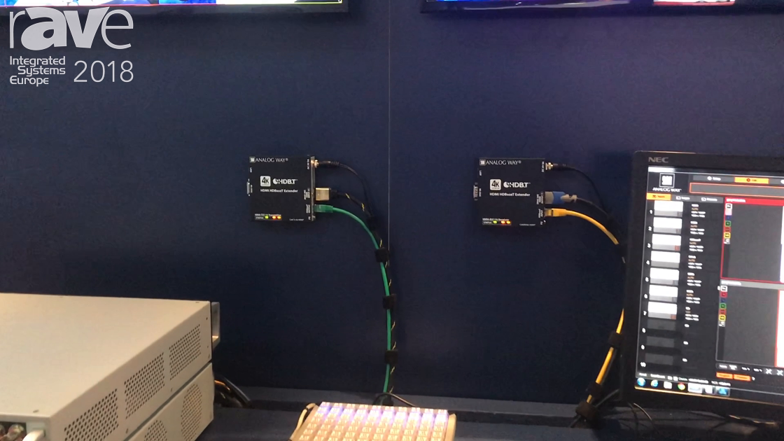ISE 2018: Analog Way Exhibits Saphyr-H HDMI Extenders With HDBaseT