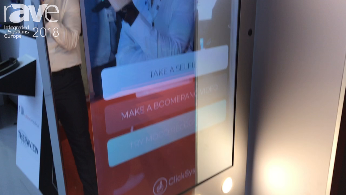 ISE 2018: ClickSys Intros Selfie Mirror For Retail Applications