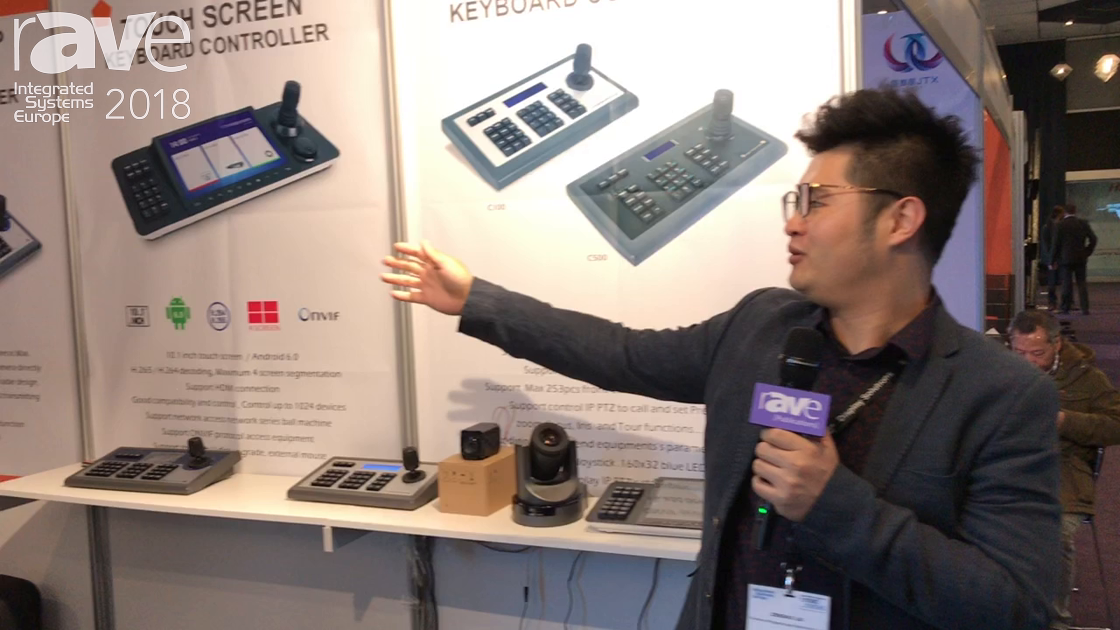ISE 2018: Shenzhen Mingyang Ages Talks C700 Touchscreen Keyboard Controller and Camera System