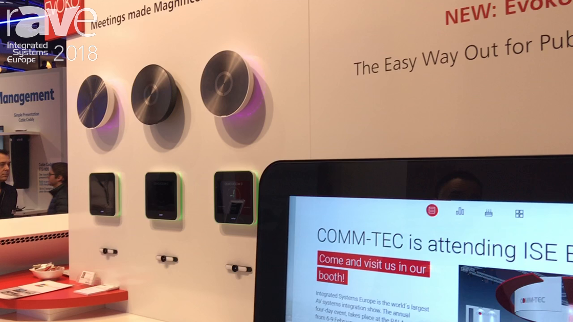 ISE 2018: COMM-TEC Highlights Evoko Pusco for Public Communication Space Applications