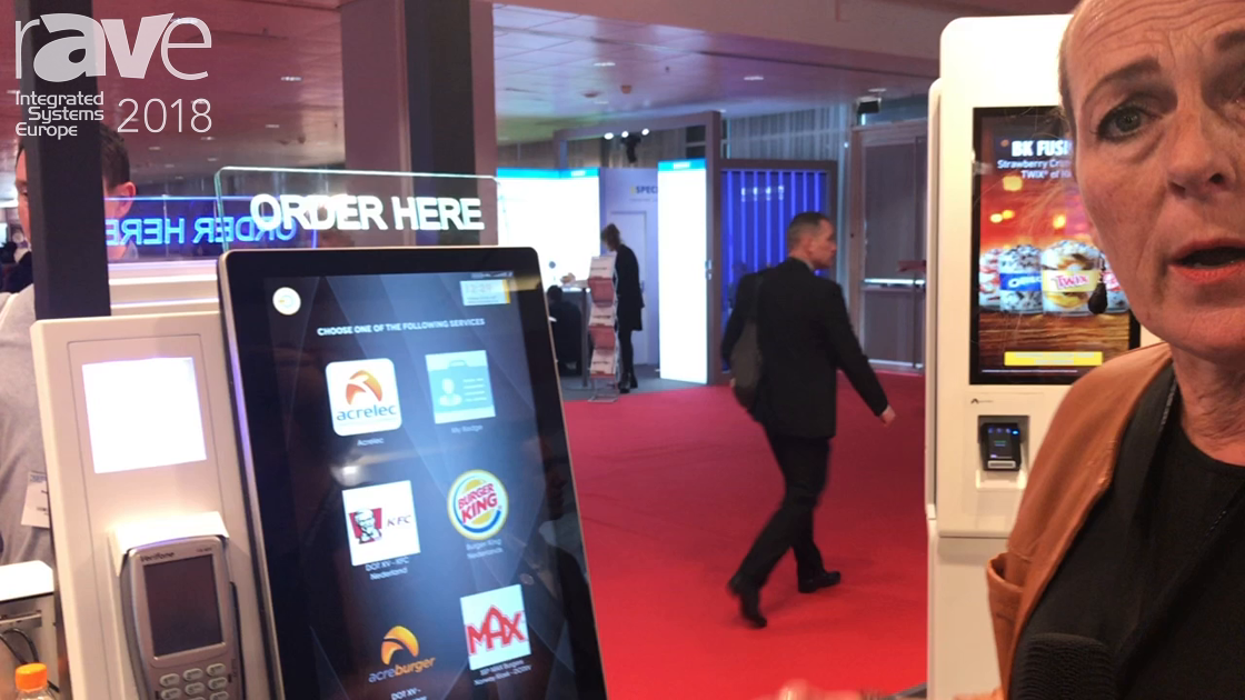 ISE 2018: Acrelec Features Self-Ordering Kiosk for Fast Food Retail Applications