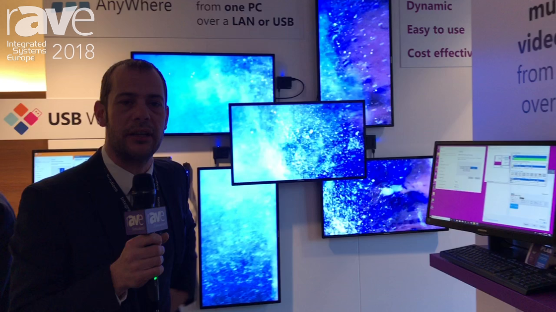 ISE 2018: Monitors AnyWhere Features Network Video Wall