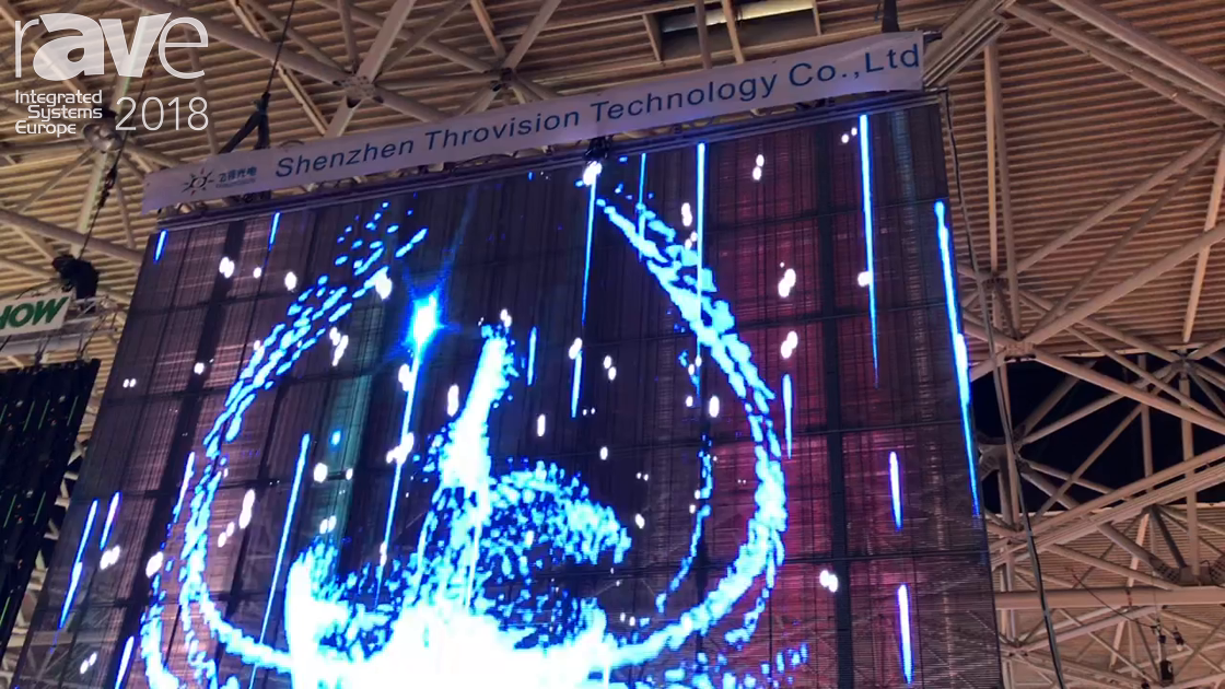 ISE 2018: E-Like Technology Unveils LED Transparent 3.9mm Screen