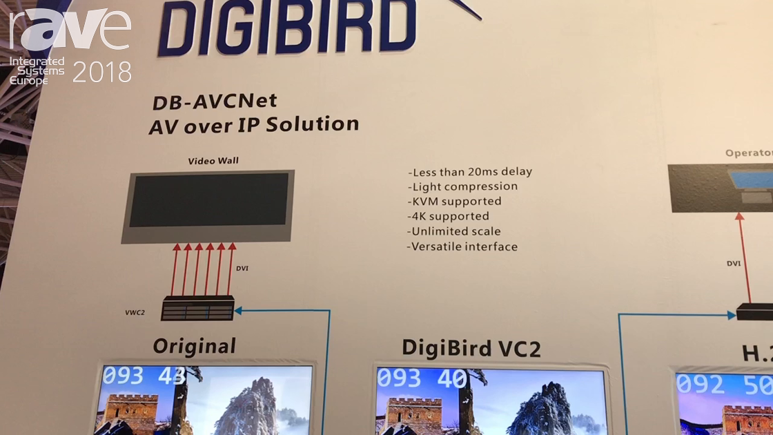 ISE 2018: DigiBird Shows DB-AVCNet AV Over IP Solution For Video Walls