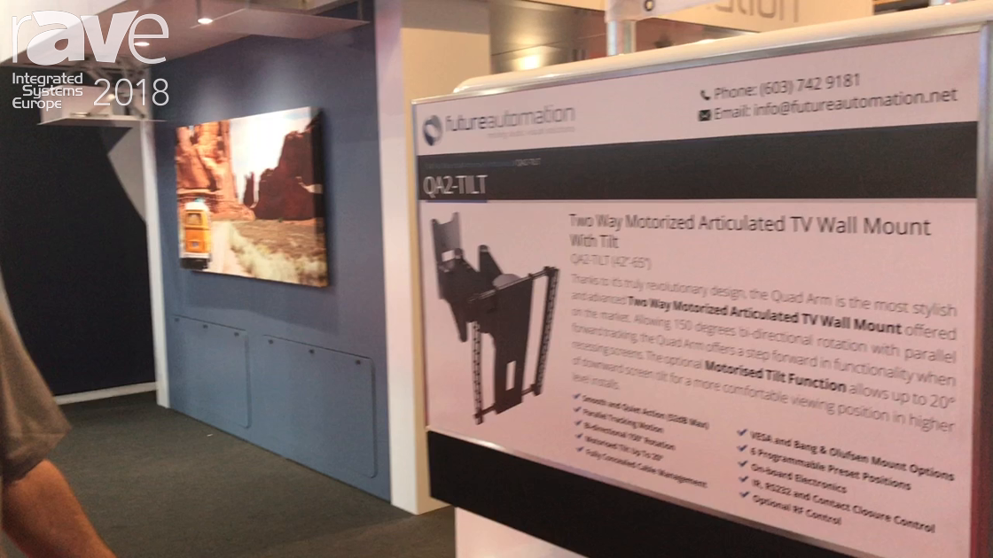 ISE 2018: Future Automation Shows Off QA2 Wall Mount Solution with Tilt