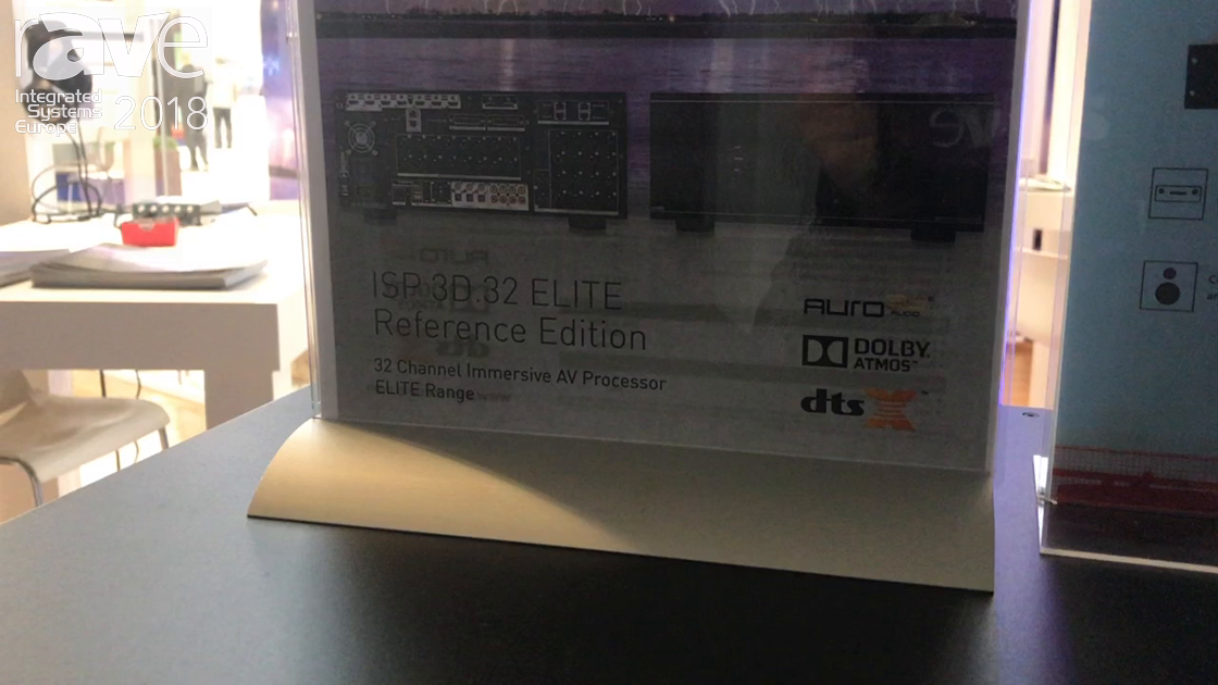 ISE 2018: StormAudio Shows ISP 3D 32 Channel Elite AV Processor with Digital Decoding Integration