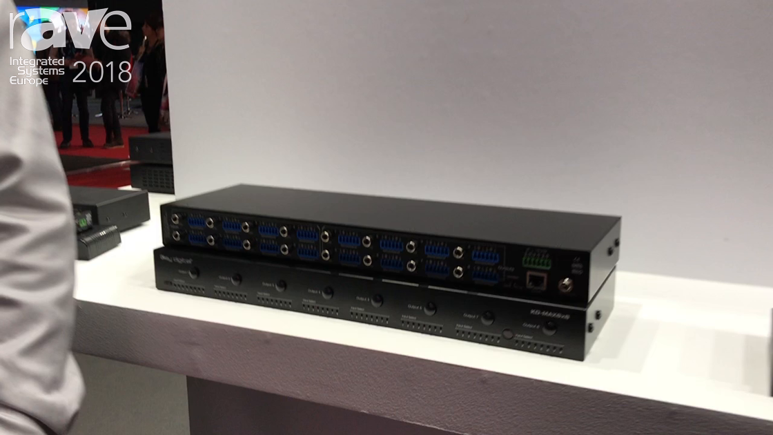 ISE 2018: Key Digital Features KD-MAX8x8 Audio Matrix with DSP and IP Controllable Features