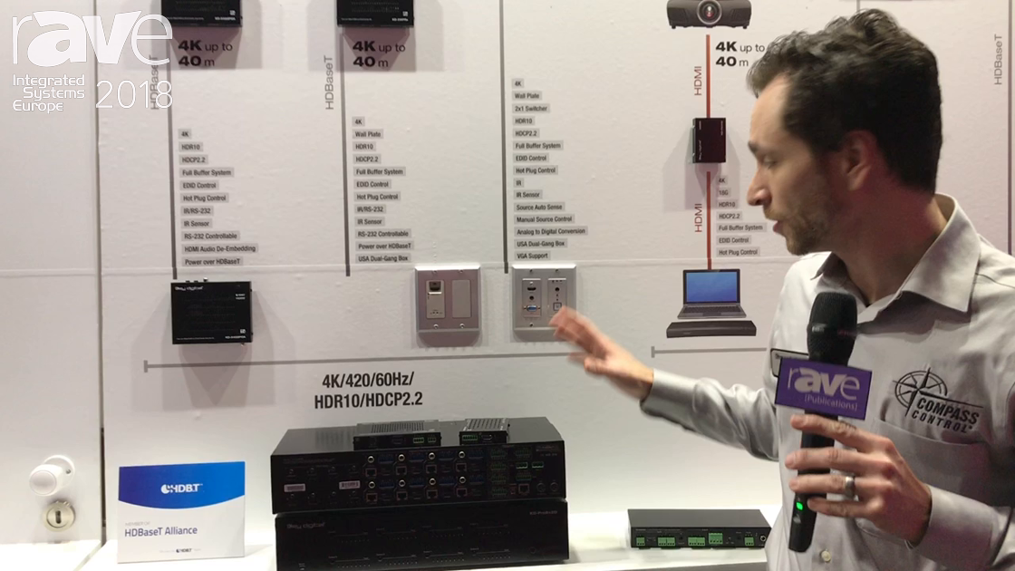 ISE 2018: Key Digital Shows KD-SX440WP, a 4K 2×1 HDMI/VGA Wall-Plate Switcher, Scaler and Extender