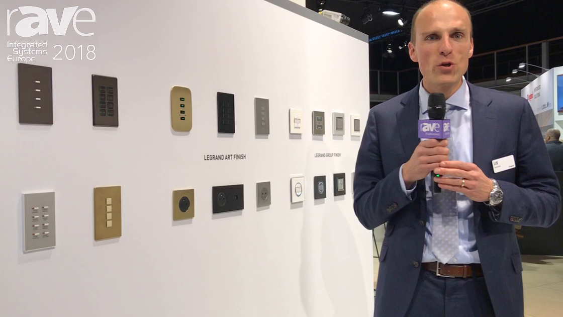 ISE 2018: Legrand Shows New Vantage Keypad Finishes and EQUINOX Key Pad Solutions
