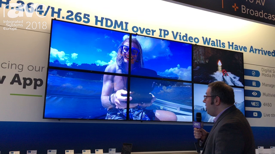 ISE 2018: MuxLab Shows H.264/H.265 HDMI-over-IP Video Wall Extender and Built-In Digital Player