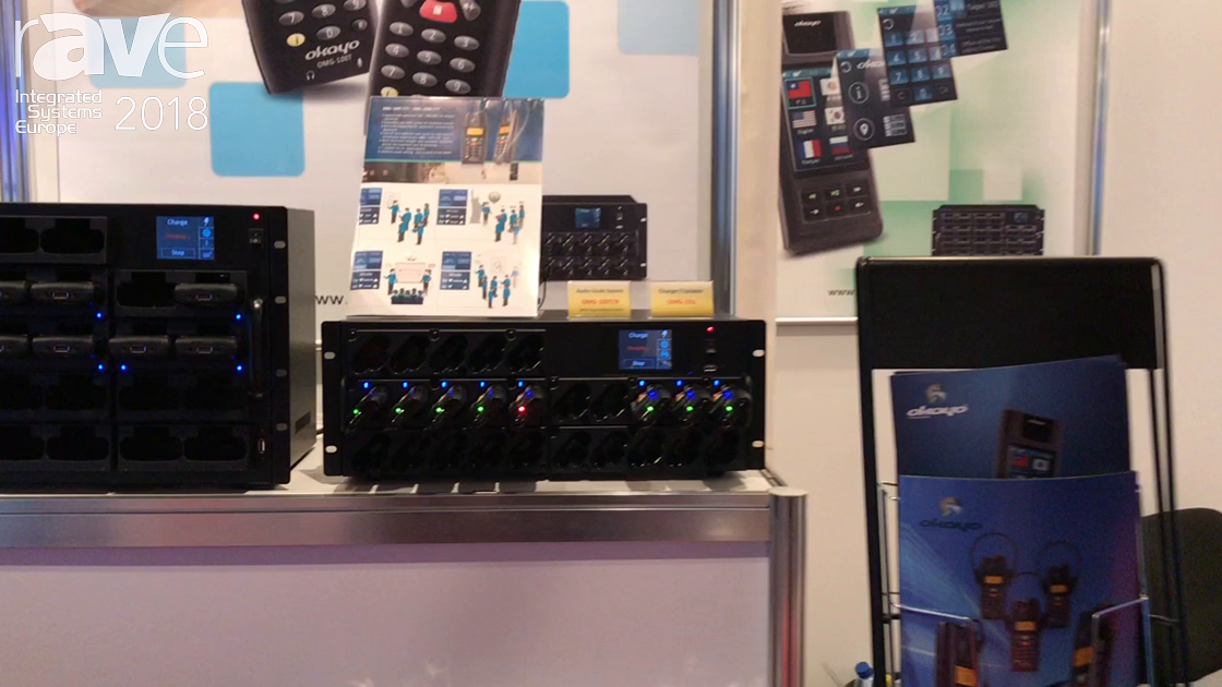 ISE 2018: Okayo Presents OMG-100T/R and OMG-25U Audio and Tour Guide System and Charger/Updater