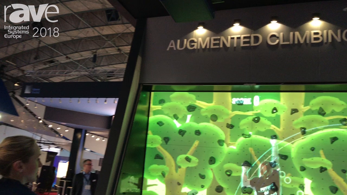 ISE 2018: Optoma Showcases Interactive Augmented Climbing Wall Solution