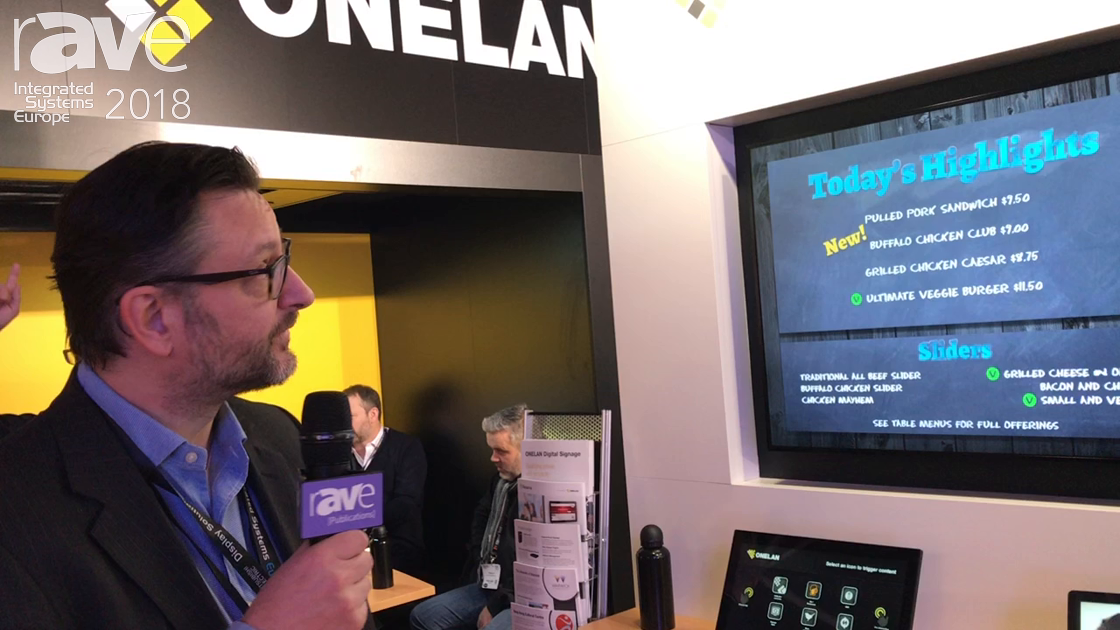ISE 2018: ONELAN Demos System-On-Chip Displays for Menu Board Applications
