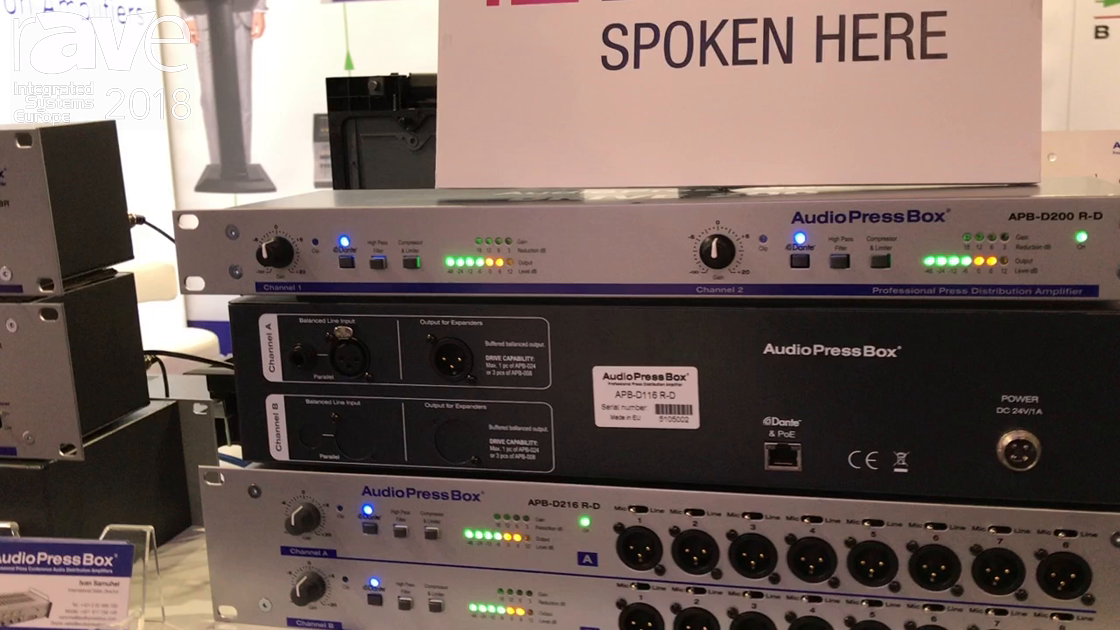 ISE 2018: AudioPressBox Displays New Dante Enabled Channel Units