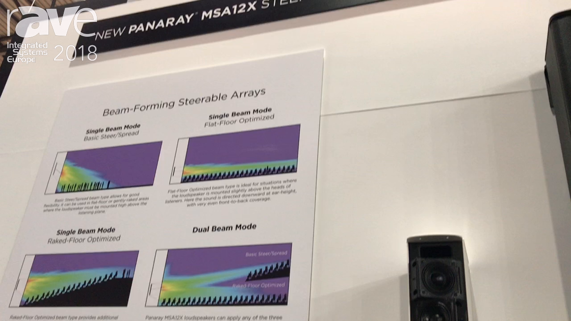 ISE 2018: Bose Professional Displays Panaray MSA12X Steerable Loudspeakers