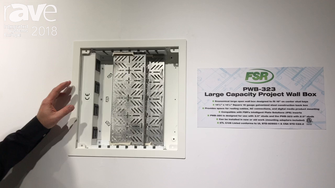 ISE 2018: FSR Features New PWB-323 Large Capacity Project Wall Box for the International Market