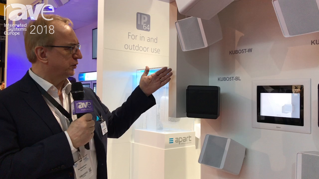 ISE 2018: Apart Audio Highlights Kubo Series Cabinet Loudspeakers with Mounting Bracket and Removal