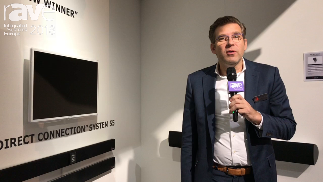 ISE 2018: Audipack Adds the System 55, a Scalable Soundbar With Integrated Direct Connection System