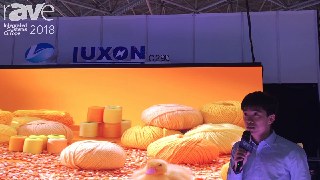 ISE 2018: Luxon Features 3.9mm Carbon Fiber Display, 1.9mm LED Display and 4.8mm Floor LED Display