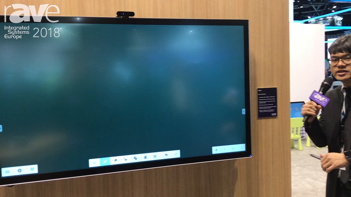 ISE 2018: CVTE Demos I65EA Interactive Display With PCAP Touch Technology