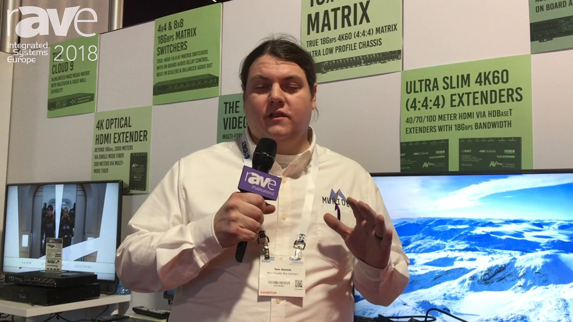 ISE 2018: AVProConnect Shows Its 8×8 Matrix with Dual HDBaseT for 4K at 18Gig