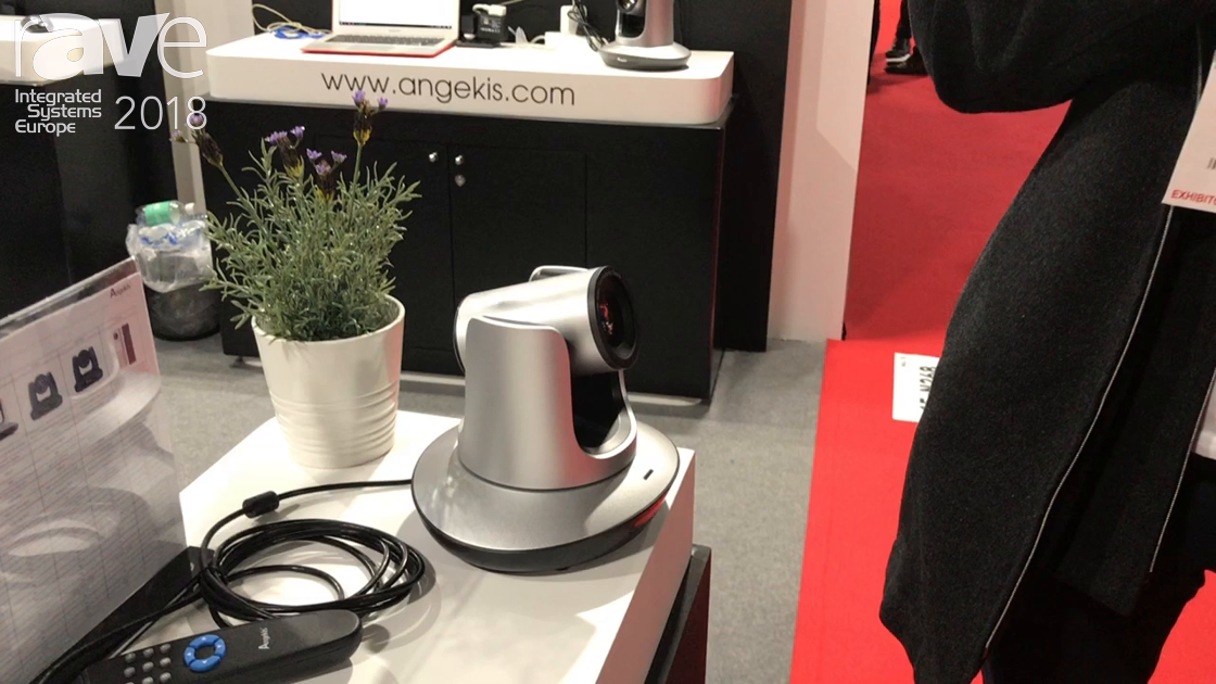 ISE 2018: Angekis Shows Its Saber Light VTC PTZ USB Camera With 5x Optical Zoom