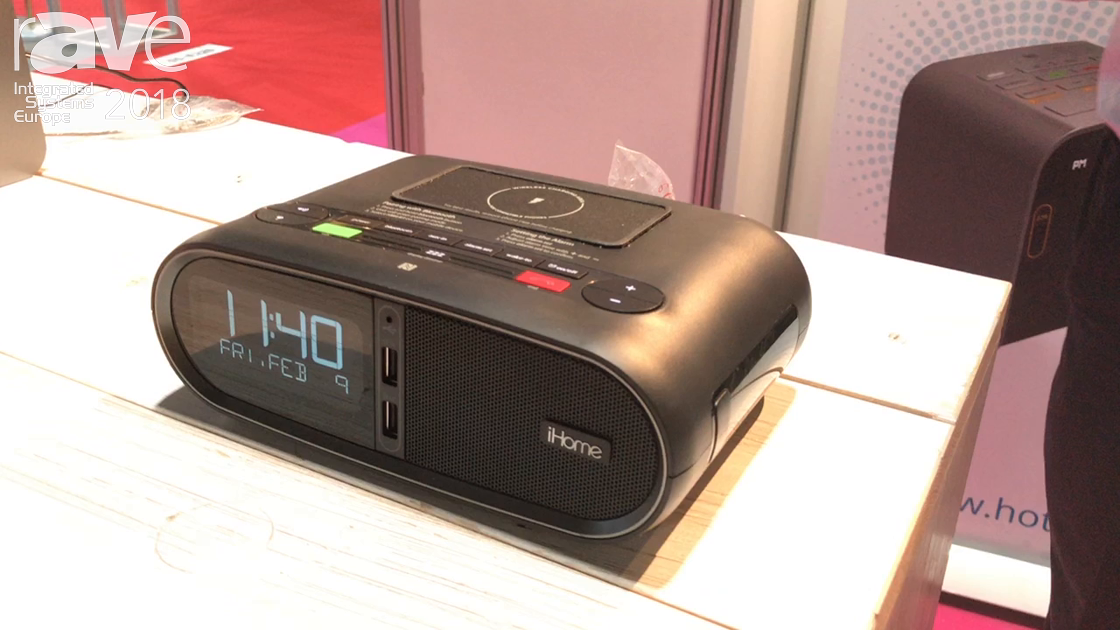 ISE 2018: GEM Management Debuts New iHome HWL83 Hotel Alarm Clock with Wireless Charging