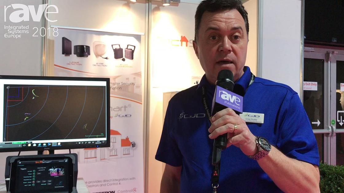 ISE 2018: GJD Shows Its D-TECT Laser Line of Motion Detectors for Home Automation