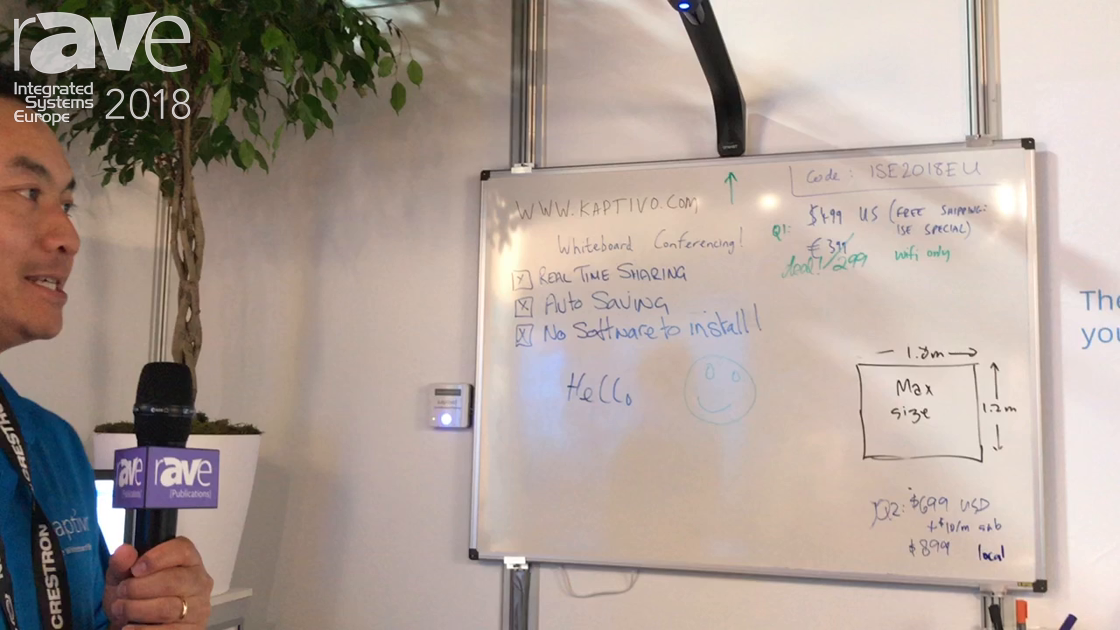 ISE 2018: Kaptivo Explains How It Turns Any Whiteboard Into an Electronic Whiteboard