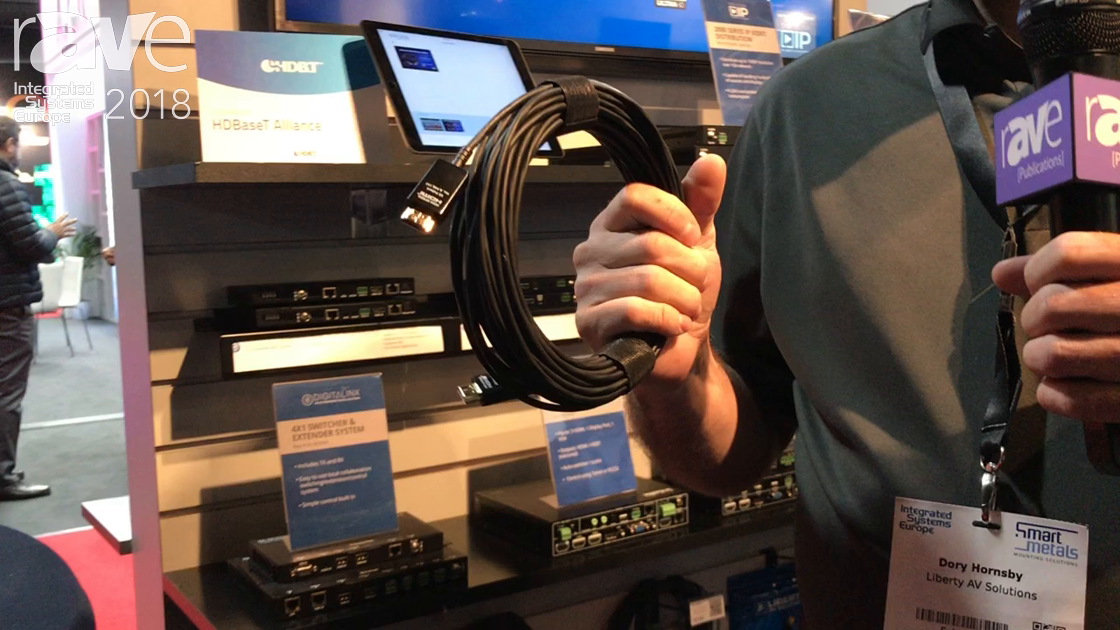 ISE 2018: Liberty AV Shows New DL-ZHDM-M 18Gig AOC Cable for Sending 4K60 Signals Over 100 Meters